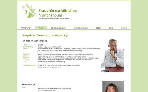 Screenshot of Team Page frauenaerzte-nymphenburg.com - Frauenärzte Nymphenburg Team - captured Oct. 22, 2018