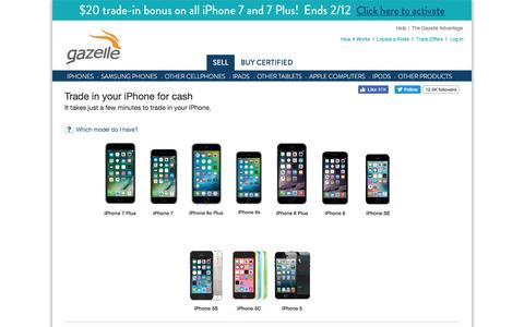 Sell iPhone and iPhone Trade In | Gazelle