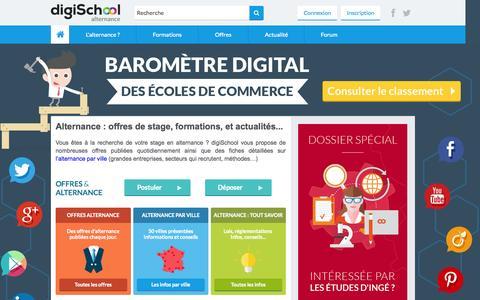 Screenshot of Home Page alternance.fr - Alternance sur digiSchool - Offres, Conseils, Astuces pour étudiants - captured Nov. 11, 2015