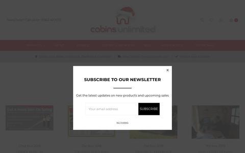 Screenshot of Blog cabinsunlimited.co.uk - Blog - captured Dec. 7, 2018