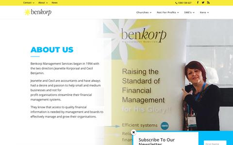 Screenshot of About Page benkorp.com - About - Benkorp - captured Oct. 5, 2018