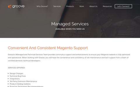 Magento Support | Magento Managed Services | Groove