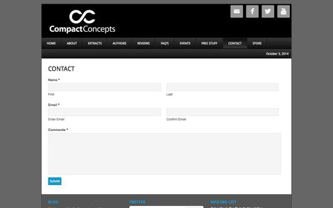 Screenshot of Contact Page compactconcepts.com - Contact High Performance Interviewing - captured Oct. 3, 2014
