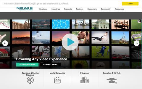Screenshot of Menu Page kaltura.com - Kaltura Video Platform - captured Nov. 24, 2015