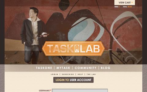 Screenshot of Login Page thetasklab.com - User account | Tasklab - captured Nov. 4, 2014