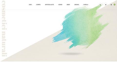 Screenshot of Home Page lysnatural.com - Cosmetici naturali, scrub corpo, cosmetici vegani, crema antirughe| Lys Natural - captured Aug. 2, 2017