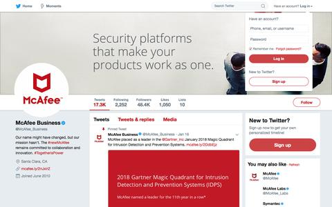McAfee Business (@McAfee_Business) | Twitter