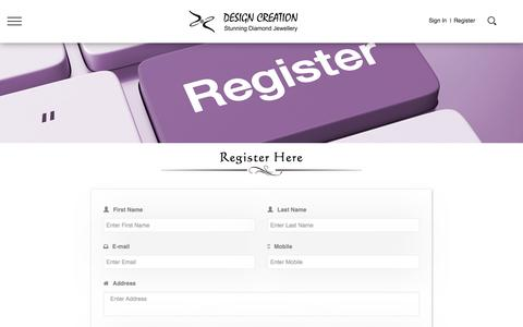 Screenshot of Signup Page designcreation.co.in - Design Creation - captured May 11, 2017