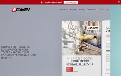 Screenshot of Home Page ecumen.in - Ecommerce Solutions India | E-commerce Agency | Ecumen - captured Dec. 26, 2016