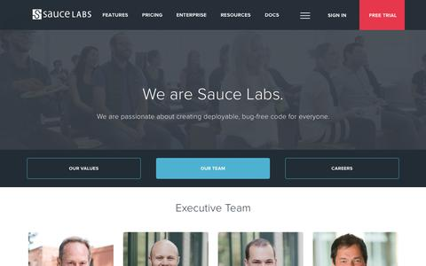 Screenshot of Team Page saucelabs.com - Sauce Labs: Team - captured Oct. 27, 2015