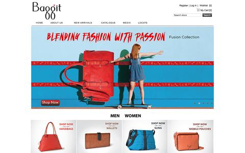 Screenshot of baggit.com - Baggit.com- Handbags India | Buy Bag Online | Ladies Handbags | Women Handbags Online India | Clutches | Wallets | Laptop Bags - captured Feb. 7, 2016