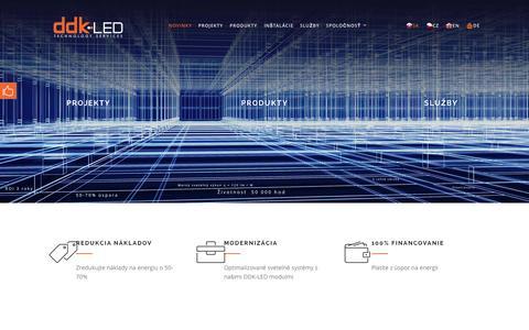 Screenshot of Home Page ddk-led.eu - DDK-LED   Technology services - captured Sept. 4, 2015