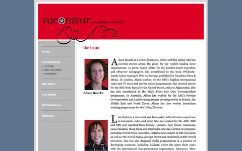 Screenshot of Team Page raconteur.com.au - Raconteur - - captured Oct. 7, 2014