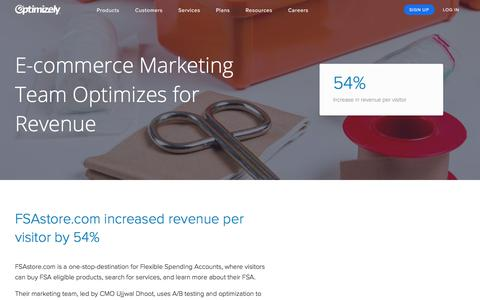 Optimizely Helps FSAstore Increases Online RPV by 54%