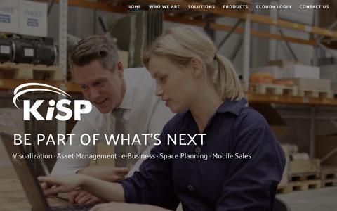 Screenshot of Home Page kisp.com - KiSP, Inc. | Be Part of What's Next. - captured June 9, 2017