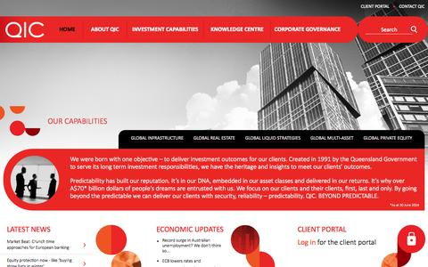 Screenshot of Home Page qic.com - QIC   Home - captured Sept. 26, 2014