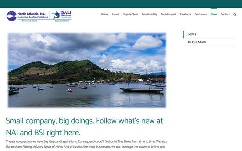 Screenshot of Press Page northatlanticseafood.com - News – NAI-BSI - captured Aug. 14, 2016