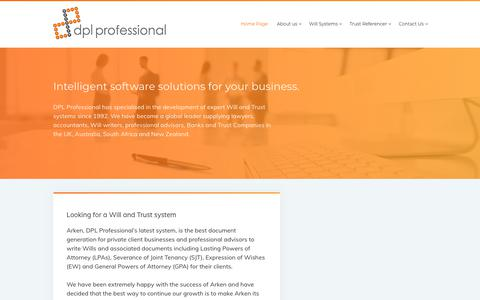 Screenshot of Home Page dplprofessionalsolutions.com - Home Page - Documents Plus Ltd - captured Oct. 9, 2018