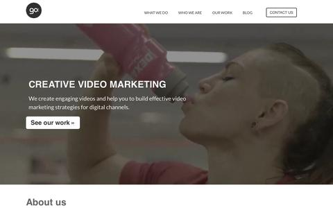 Screenshot of Home Page gogroup.fi - Go:group - Creative video marketing - captured Dec. 10, 2015