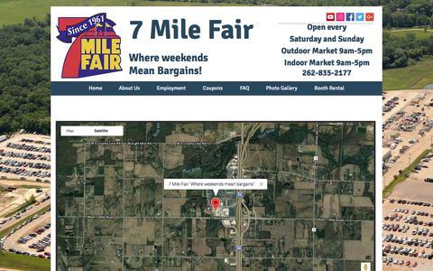 Screenshot of Maps & Directions Page 7milefair.com - Google Maps - captured Sept. 21, 2018
