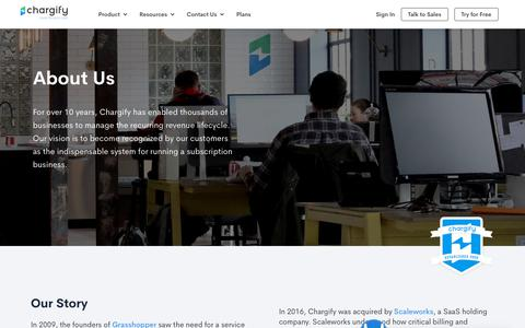 Screenshot of About Page chargify.com - About Us | Chargify - captured Feb. 19, 2019