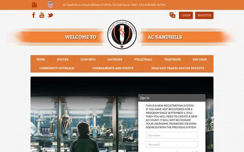 Screenshot of Login Page bluesombrero.com - Login/Register - captured June 13, 2016