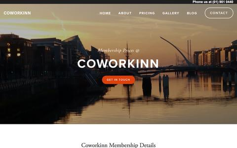 Screenshot of Pricing Page coworkinn.com - Pricing — Coworkinn - captured April 11, 2017