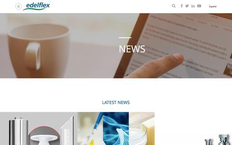 Screenshot of Press Page edelflex.com - News | Edelflex - captured Nov. 4, 2018