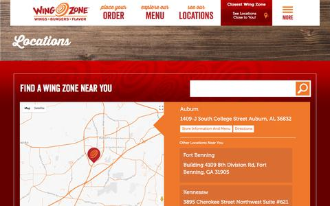 Screenshot of Locations Page wingzone.com - Find a Location | Wing Zone | We Deliver Amazing Flavor - captured Oct. 21, 2017