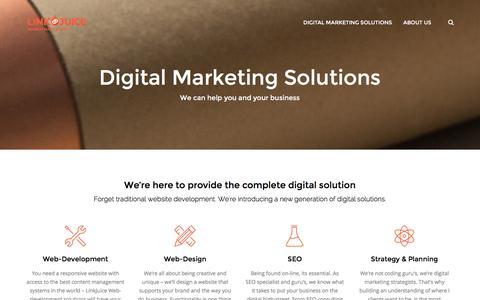 Screenshot of Services Page linkjuice.co.nz - Digital Marketing Solutions - LinkJuice - captured Jan. 30, 2016