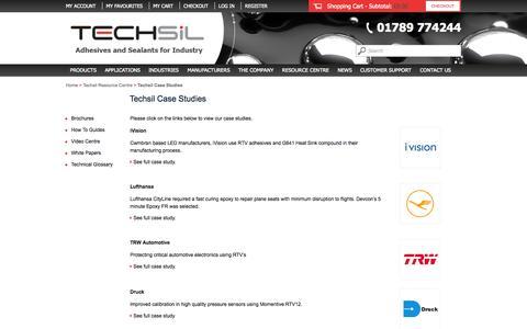 Screenshot of Case Studies Page techsil.co.uk - Techsil Case Studies | Techsil - captured Oct. 9, 2014