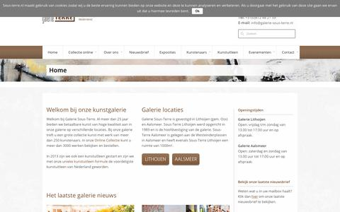 Screenshot of Home Page sous-terre.nl - Galerie Sous-Terre - Lithoijen - Aalsmeer - Ootmarsum | KunstGalerie Sous-Terre | Galerie Sous-Terre en beeldenpark - captured March 4, 2018