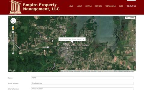 Screenshot of Contact Page empirepropertymanagement.net - Contact Us - captured Nov. 2, 2014
