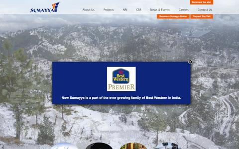 Screenshot of Home Page sumayya.in - Sumayya Developers | Real Estate Developers in Mukteshwar | Residential Projects near Nainital - captured Sept. 2, 2015