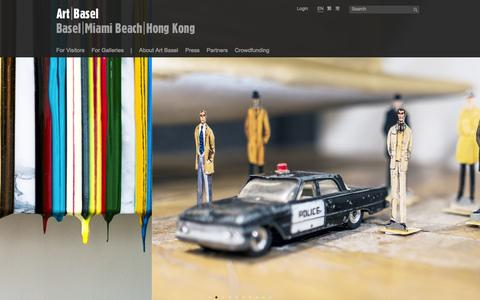 Screenshot of Home Page artbasel.com - Art Basel - captured Sept. 19, 2014