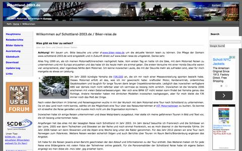 Screenshot of Home Page schottland-2003.de - Schottland-2003.de - Willkommen - captured June 10, 2016