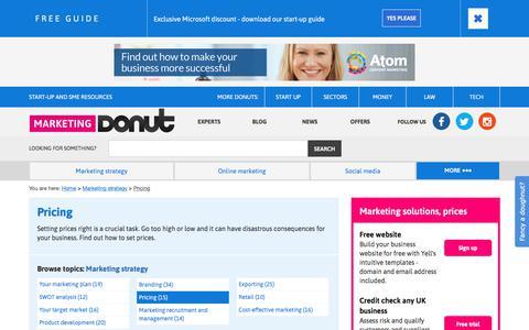 Screenshot of Pricing Page marketingdonut.co.uk - Pricing | Marketing Donut - captured Sept. 21, 2018