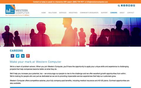 Careers : Western Computer