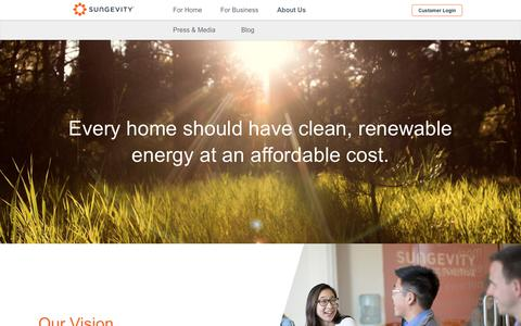 Screenshot of About Page sungevity.com - Company - About Us - Sungevity - captured May 18, 2019