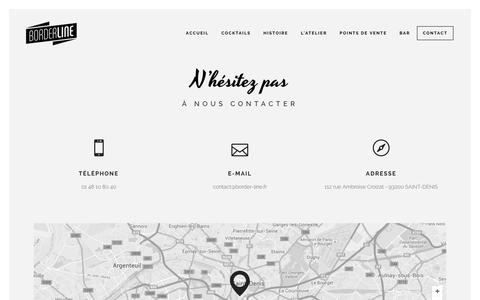 Screenshot of Contact Page border-line.fr - Borderline | Contact - captured Feb. 7, 2016