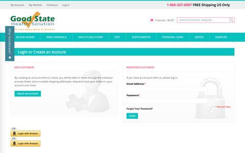 Screenshot of Login Page goodstate.com - Customer Login - captured Aug. 28, 2017