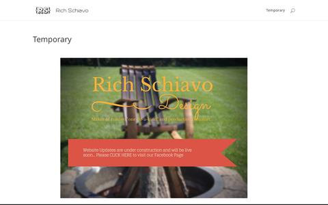 Screenshot of Home Page richschiavo.com - Rich Schiavo | Awesome changes coming soon! - captured Feb. 22, 2016