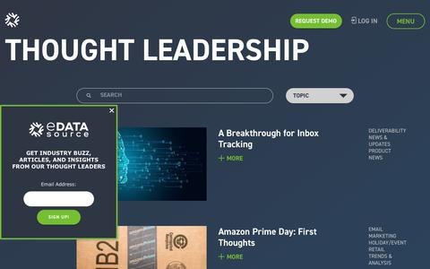 Screenshot of Blog edatasource.com - Thought Leadership - eDataSource - captured July 19, 2019