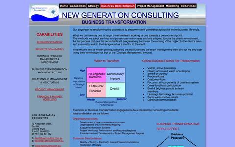 Screenshot of Team Page ngconsulting.com.au - New Generation Consulting - captured Nov. 3, 2014