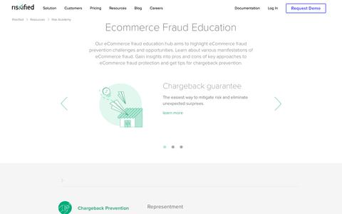 Screenshot of Case Studies Page riskified.com - Ecommerce Fraud Education - Risk Academy | Riskified - captured Feb. 20, 2020