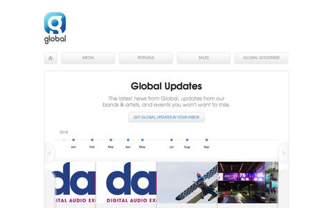 Screenshot of Press Page global.com - Global Updates | Global - captured Sept. 24, 2018