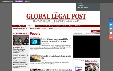 Screenshot of Team Page globallegalpost.com - People Page 1 - The Global Legal Post - captured Nov. 30, 2016