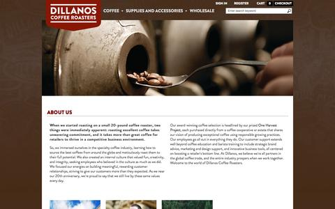 Screenshot of About Page dillanos.com - About - captured Oct. 5, 2014