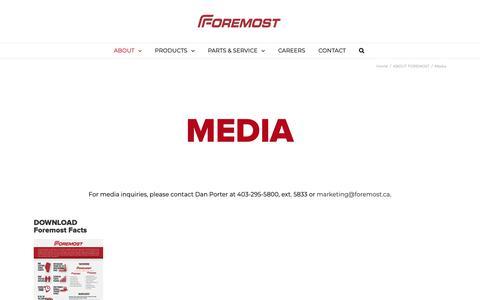 Screenshot of Press Page foremost.ca - Media | Foremost - captured Nov. 14, 2018