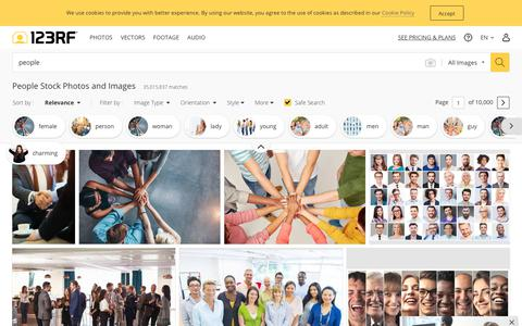 Screenshot of Team Page 123rf.com - People Stock Photos And Images - 123RF - captured Aug. 18, 2019